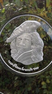 Vintage Val St Lambert 1969 Rembrandt 25cm Plate Signed Crystal with certificate