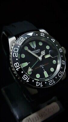 SUBMARINER DIVERS WATCH *MODDED with SEIKO DIAL High Accuracy Movement *STUNNING