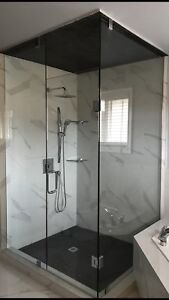 GLASS SHOWER DOORS ENCLOSURES GLASS RAILING STAIRS DECKS MIRRORS