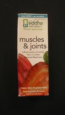 Siddha Cell Salts + Flower Essences Muscle & Joints Homeopathic Remedy 1 Oz