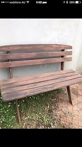 Jarrah outdoor/ patio wooden bench chair , North Willoughby Willoughby Area Preview