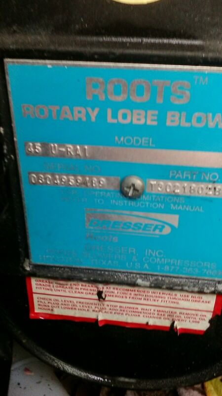 Roots Rotary lobe Blower 45 U-RAI  Roots™ Blower Vacuum Pump Excellent Condition