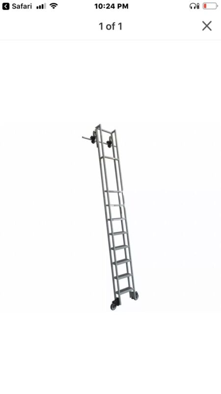 Cotterman rolling Steel library ladder, Durable library step ladder