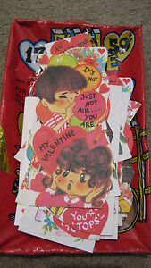 Vintage Fun Time Valentine Cards Lot of 17 Parrot Boy Girl Indian Mouse UNUSED