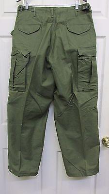 Vietnam Era US OD M65 OG 107 Field Pants Trousers 1974 Dated Medium Short NOS