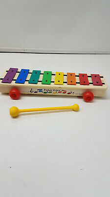 Vintage 1964-1978-1985  Fisher-Price Pull-A-Tune #870 Xylophone Pull Toy