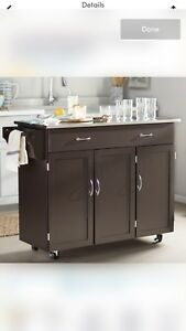 Moving Sale - Stainless steel kitchen island cart