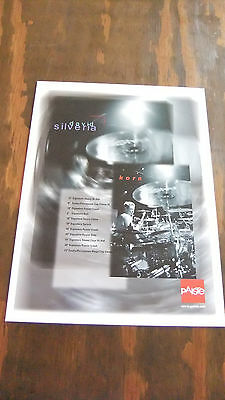 Paiste Cymbals In-Store Artist Poster: David Silveria of Korn
