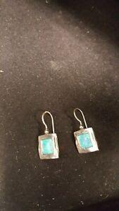 b4ffcc2c6 SHABLOOL DIDAE Israel .925 Sterling Silver Lab Opal Earrings - NEW