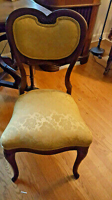 VINTAGE 1950's  CARVED WOOD REPLICA JAMES MONROE HEART BACK CHAIR Monroe Accent Chair