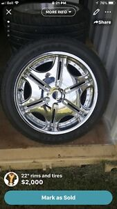 "Rims 22"" with tires"