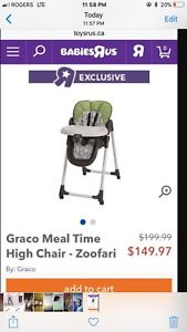 Zoofari high chair Graco - BRAND NEW - BOX IS NOT OPENED