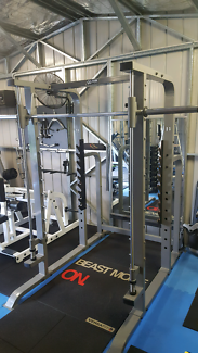 Full commercial smith/power rack combo