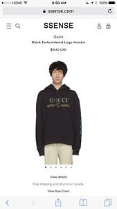 Gucci embroidered men's hoodie