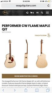 Seagull Acoustic Guitar Performer CW Flame Maple QIT