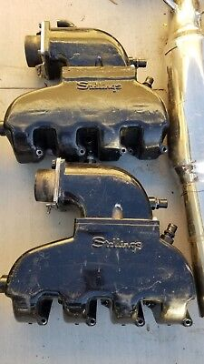 Stellings Marine Performance Dry Offshore Exhaust Manifolds/tailpipes  for BBC