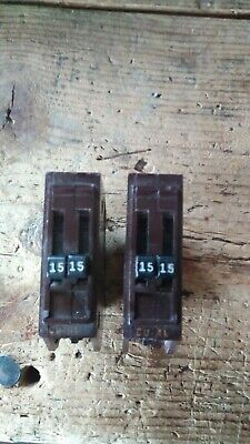 2 Wadsworth B1515 15-amp 15a 120240v Duplex Twin Tandem Pole Circuit Breaker