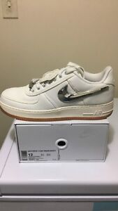 Travis Scott x Air Force 1's for sale $420!!! Size 12 DS