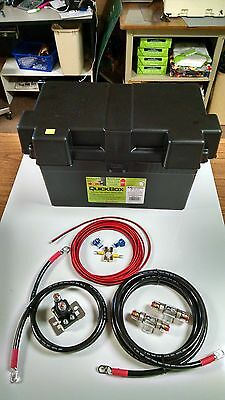 EXTREME DUTY CUSTOM MADE 2 GAUGE AWG DUAL / AUXILIARY BATTERY KIT W/ ISOLATOR