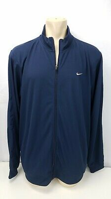 Nike Performance Jacket Mens Size 2XL XXL Navy Blue Zip Up Light Weight Active