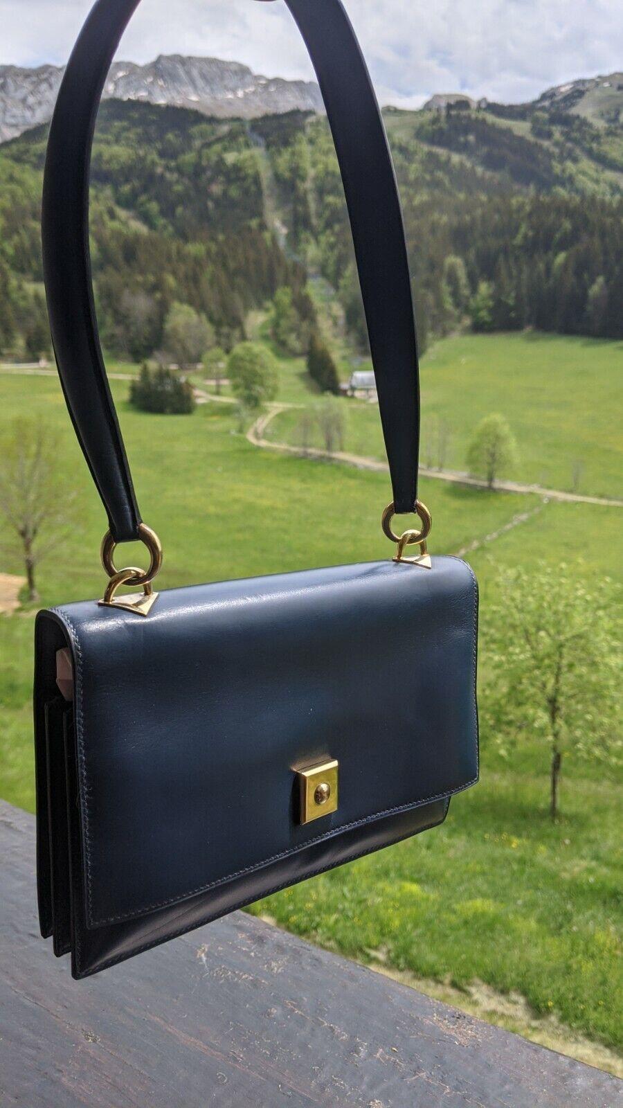 Hermes paris, vintage, sac piano, handbag, cuir, leather