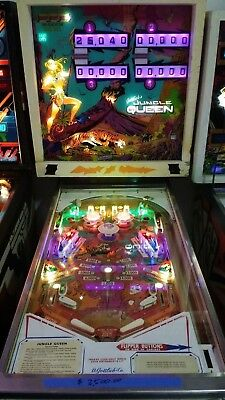1977 Gottlieb Jungle Queen Pinball Machine LED Upgrade Shopped