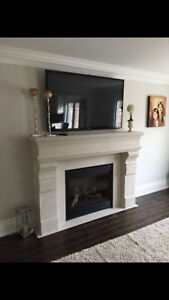 Fireplace casted stone mantels