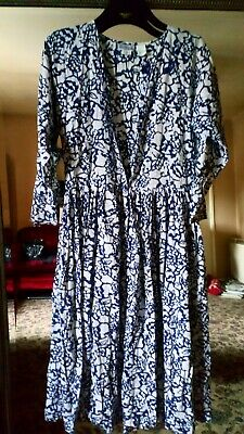 MONSOON DIFFUSION true vintage,maxi dress, prairie,tea dress UK10