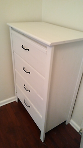 White timber 4 drawer unit Hunters Hill Hunters Hill Area Preview