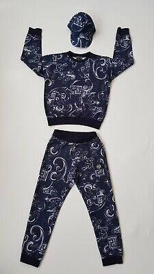VERSACE YOUNG Boys Blue And White Tracksuit With Cap . Size 10 Age. RSP £650
