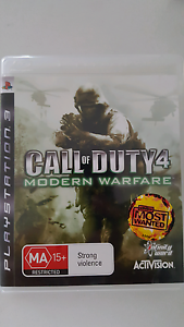 PS3 Playstation Game - Call of Duty 4 Modern Warfare. COD Dianella Stirling Area Preview