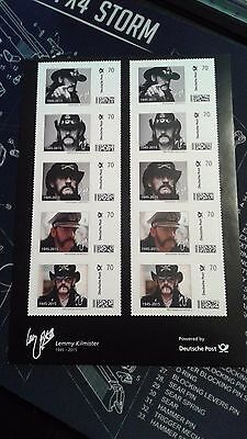 Lemmy Kilmister  1945 - 2015  Limited Edition Stamps Germany MOTORHEAD 777