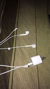 iPhone headphones and charger