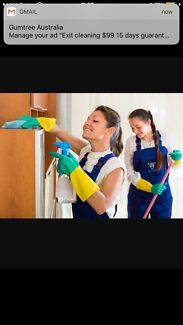 Guarantee. Exit cleaning $99 only
