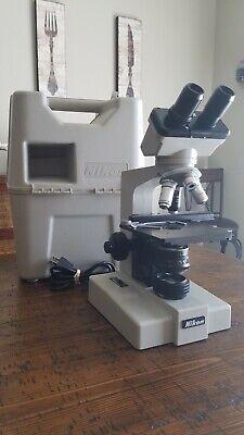 Nikon Sc Binocular Microscope Objectives 4x 10x 40x 100x Includes Case