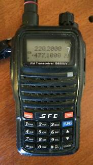 HANDHELD CB RADIO - SFE S850UV Dual-band (UHF/VHF) Walkie Talkie