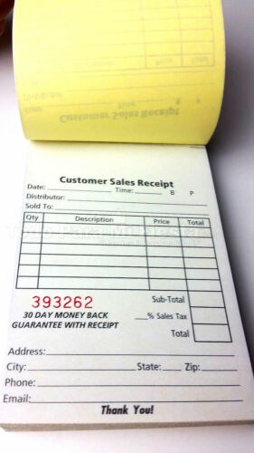 Invoice Sales Receipt Order Book 70 Set Forms 2 Part Carbonless BUY 2 GET 1 FREE