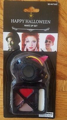 PIRATE MAKEUP KIT Halloween Costume Accessories Pirates Eye Patch Earring NIP - Halloween Eye Patch Makeup