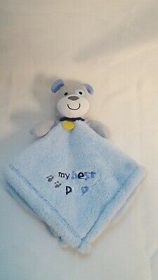 Baby Gear Gray Blue Stuffed Puppy Dog Boy Security Blanket My Best Pup Lovey