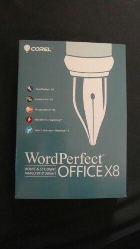 WordPerfect Office X8 Home & Student Edition Windows CORK1Z800F019
