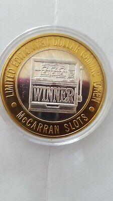 Limited Edition Ten Dollar Gaming Token .999 Fine Silver - McCarran - Las Vegas
