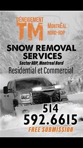 Snow removal Montreal nord rdp