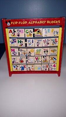 Disney flip flop alphabet blocks
