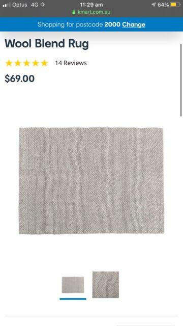 Kmart gray wool blend rug | Rugs