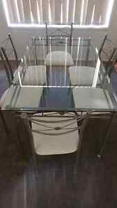 Glass dining table and chairs Bomaderry Nowra-Bomaderry Preview