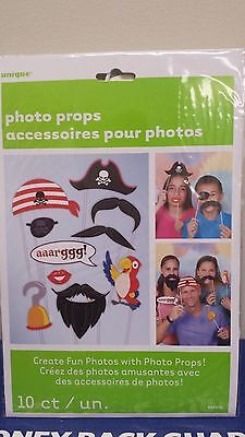 PIRATE Photo Booth Props Set of 10 PIRATE Party  - Create Fun Photos!   - Pirate Photo Booth Props