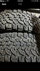285/65/20 kO2 BF Goodrich lots of treads $250 for pair