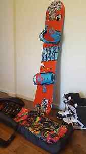 Snowboard, Bindings, Boots and Travel bag Seaford Frankston Area Preview