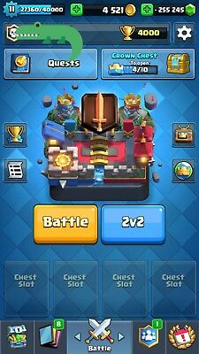 Lvl 11 Clash Royale Account 4000 Tr Negative Gem  78 81  11 Legends Android Only