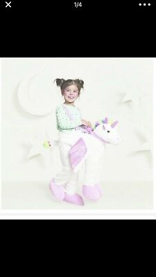 Toddler Girls UNICORN Rider Ride in Halloween Costume Purim 18 Months 2T 4T NEW - Unicorn Rider Costume